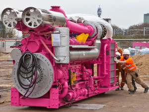 Kings Cross Central - T1 The Energy Centre - delivery of the pink CHP engine